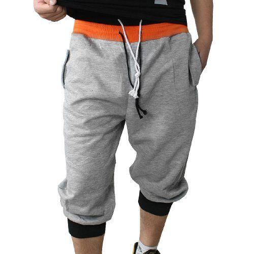 Allegra K Men Multi-pocket Drawstring Waist Sports Capri Pants ...