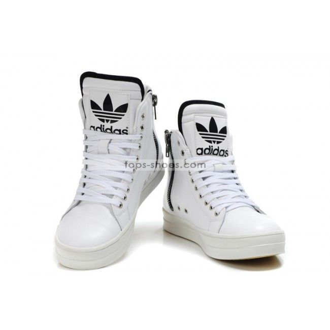 hightops | Adidas Originals Big Tongue High Tops Zip-up Shoes White for men