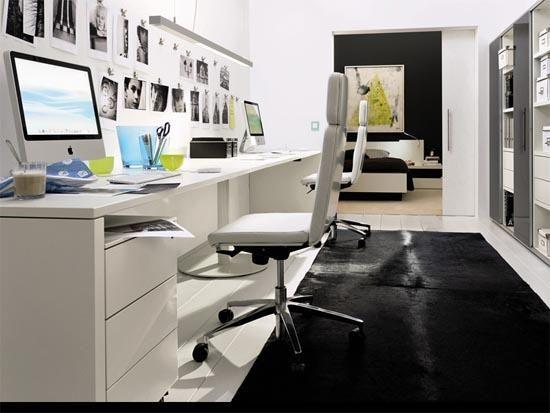 Décoration bureau en longueur déco en home
