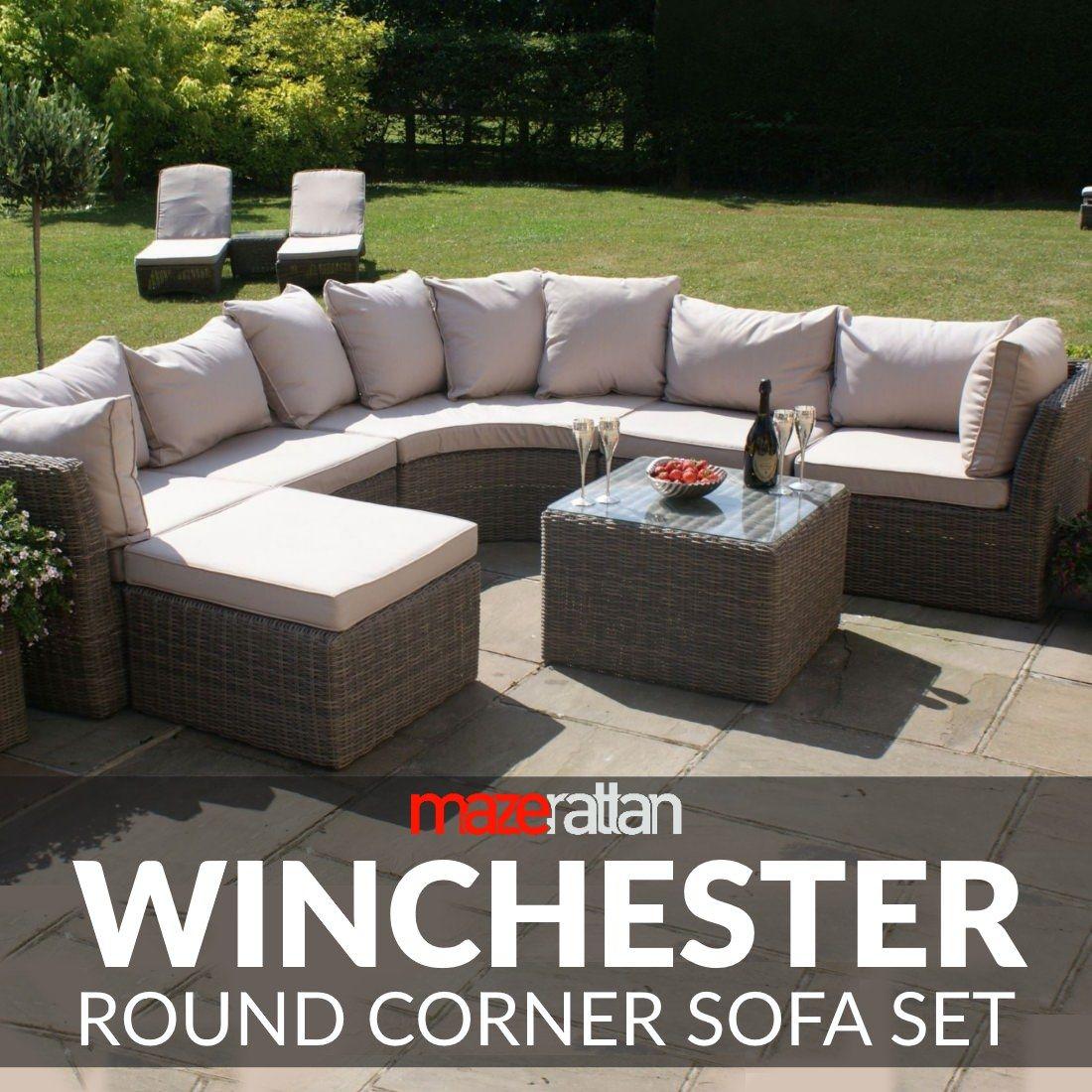 Maze Rattan Winchester Round Corner Sofa Set WIN-203034 - Maze Rattan Winchester Round Corner Sofa Set WIN-203034 Rattan