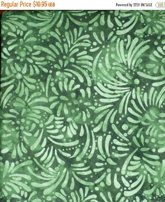 CHRISTMAS SALE Petals by SSI Studio for South Sea Imports in Green, By the Yard, 44/45 inches Wide