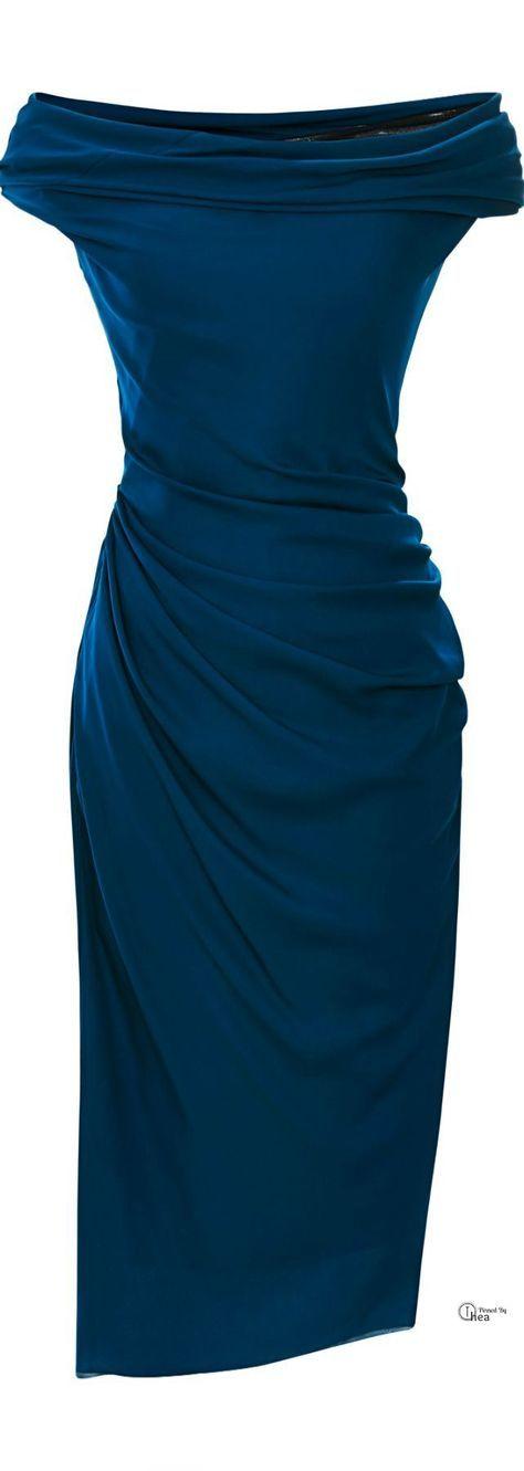 Photo of blue off the shoulder dress