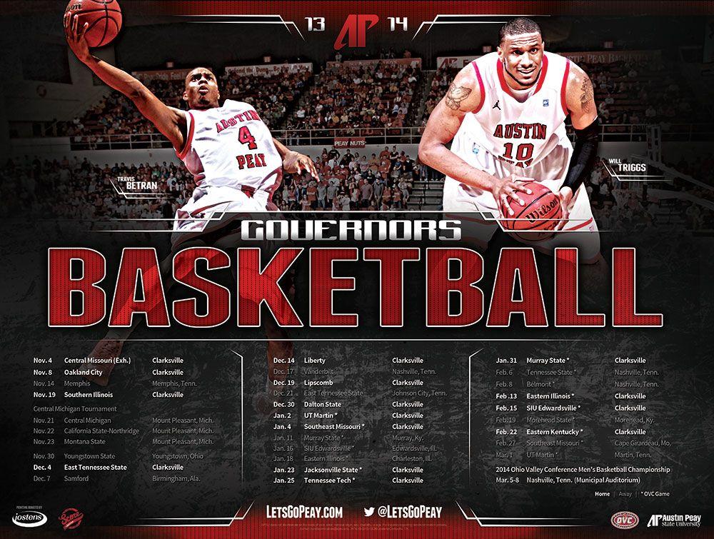 Apsu Men S Basketball 2013 Score Creative Sports Marketing And Design Sports Marketing Mens Basketball Basketball Posters