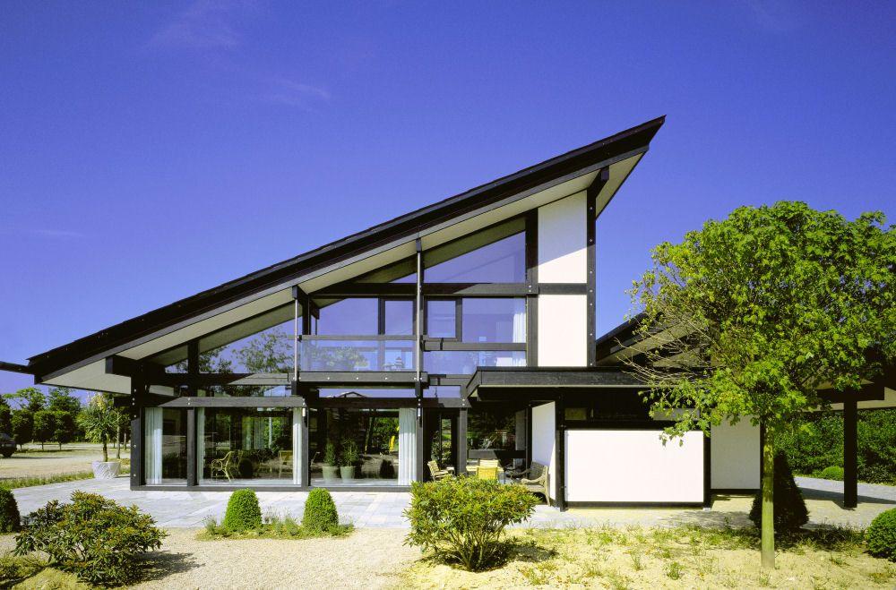 Фахверковые дома с синим фасадом фото