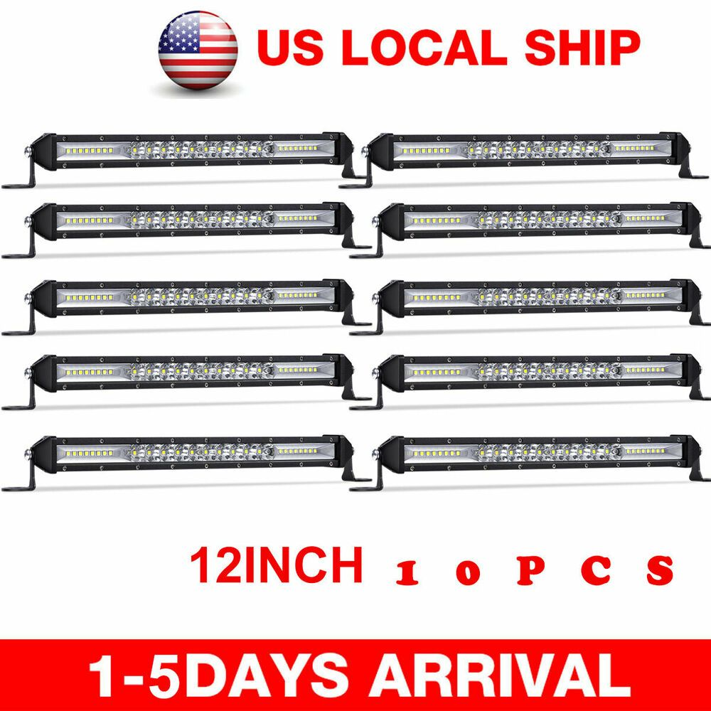 Ad Ebay 10 X 12inch 72w Cree Led Light Bar Flood Spot Offroad Ute Boat 4wd Jeep Slim 14 Cree Led Light Bar Bar Lighting Cree Led