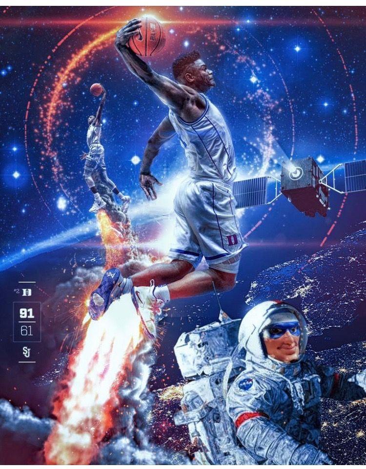 Zion Williamson Nba Basketball Art Duke Basketball Players Nba Pictures