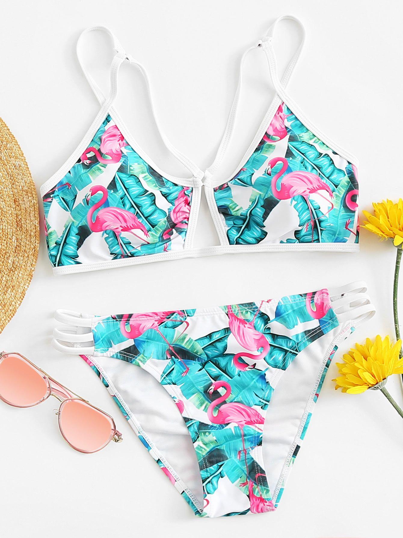 6912aaf3c22 Mimfor Fashion Women's Ladies Vintage Lace Bikini Sets Beach Swimwear  Bathing Suit Clothing