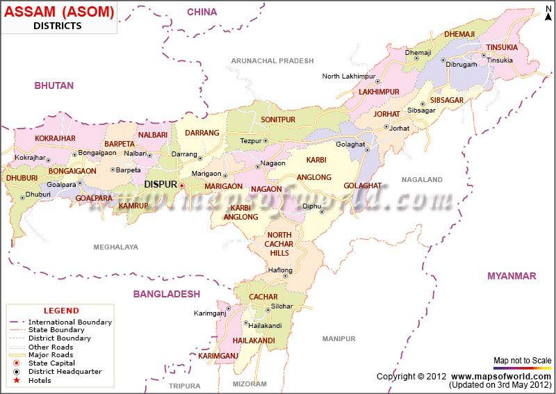 Map Of Assam Burma To Bhutan Pinterest Bhutan India And Explore - Map of bhutan with districts
