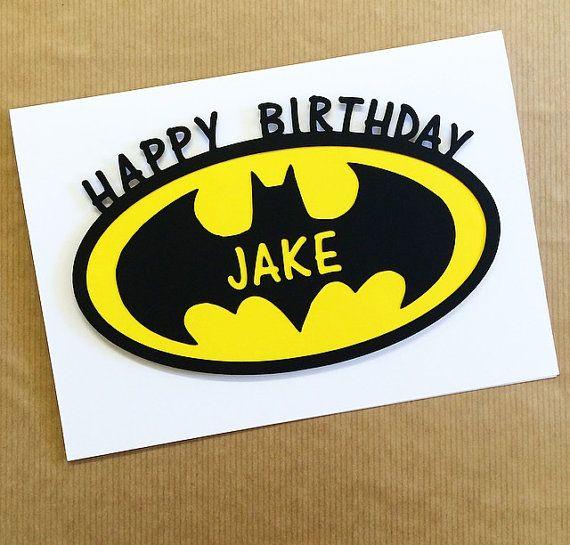 Batman Birthday Card Papercut Hand Made Blank Card Greetings Card Can Be Personalised Birthday Cards For Boys Birthday Cards Boy Cards