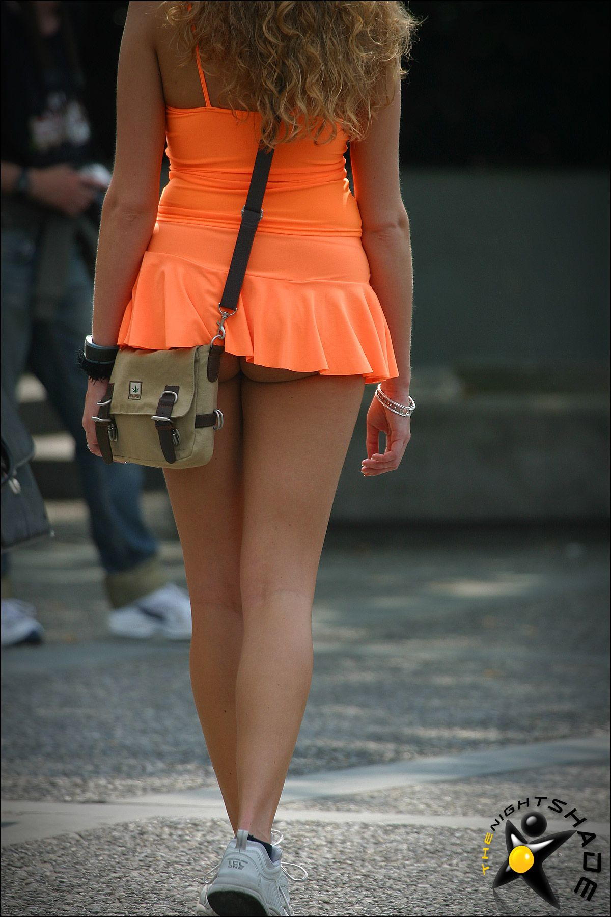 Micro mini skirts in public