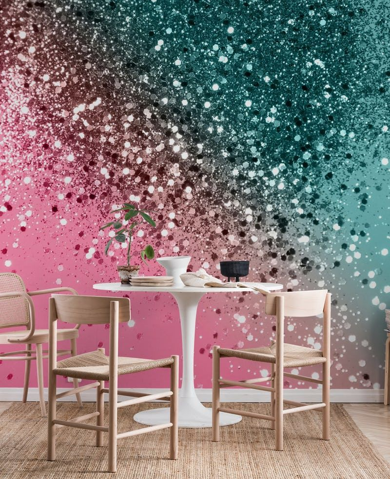 Tropical Watermelon Glitter 2 Wallpaper From Happywall Com Glitter Room Girls Bedroom Paint Girls Bedroom Paint Colors
