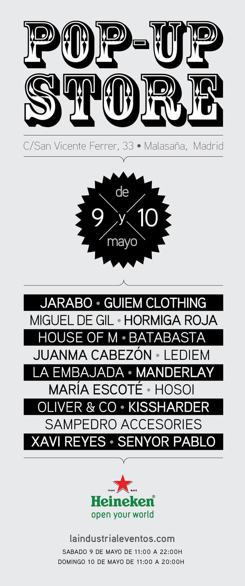 Este finde #popupmadeinspain! #popupstore! El sábado 9 de 11.00 a 22.00h y el domingo 10 de 11.00 a 20.00h En la calle San Vicente Ferrer 33 (Madrid) una estupenda selección de marcas de aquí, precios especiales, cervezas y musicón!  This weekend #popupmadeinspain! #popupstore! Saturday 9 11.00 to 22.00h on Sunday 10 from 11.00 to 20.00 San Vicente Ferrer 33 (Madrid) a great selection of Spanish brands, special prices, beers and music!