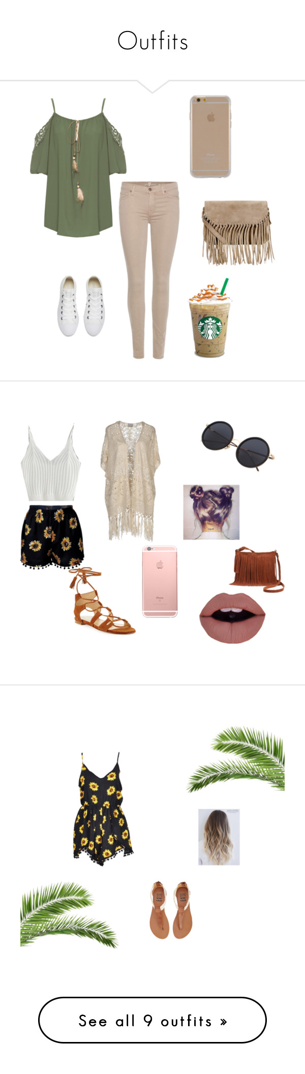 """""""Outfits"""" by ritasecrets on Polyvore featuring WearAll, 7 For All Mankind, Converse, Agent 18, Accessorize, WithChic, Stuart Weitzman, Vero Moda, SONOMA Goods for Life and Billabong"""