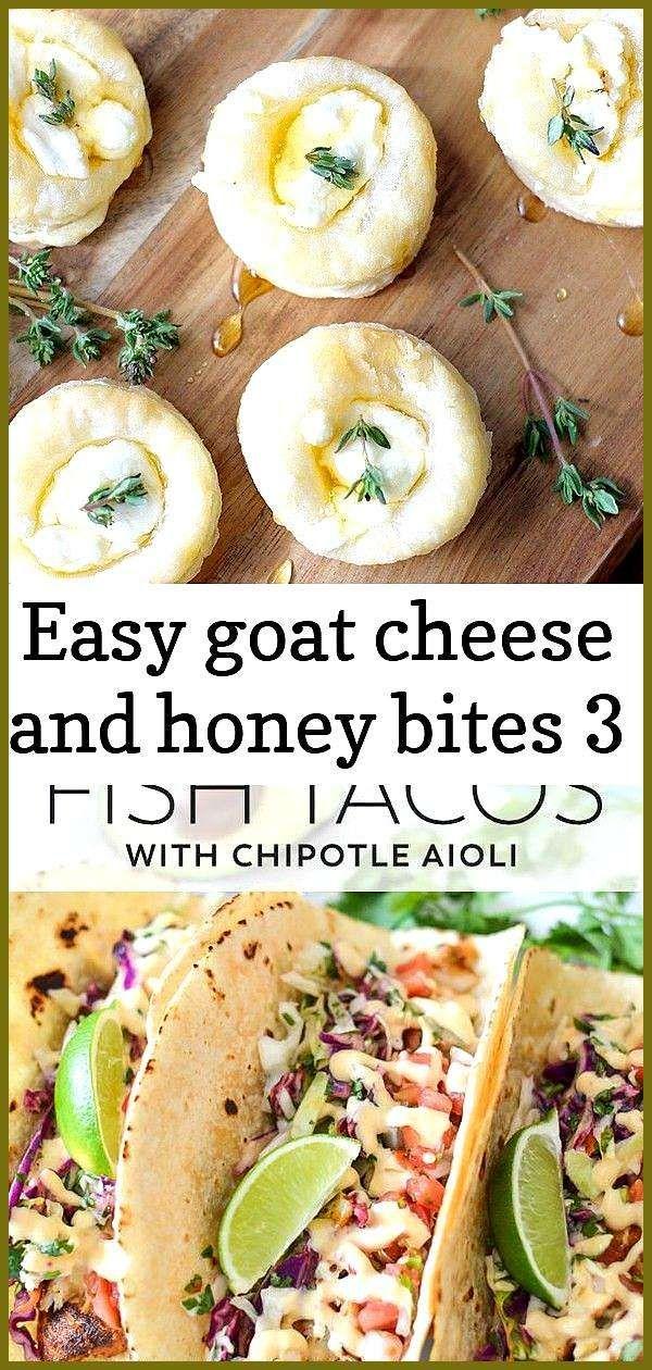 Easy goat cheese and honey bites 3 Savory Goat Cheese and Honey Bites are the perfect appetizer rec