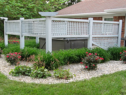 Landscaping for Hot Tub privacy in Indianapolis
