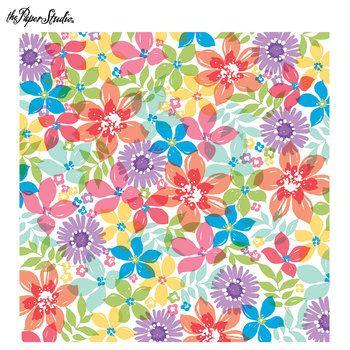 Watercolor Floral Scrapbook Paper 12 X 12 Rivers Photo Album