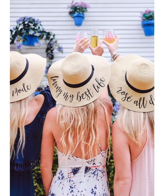 5180c0b3 Custom Floppy Beach Hat // Bachelorette Trip // Honeymoon // Beach Weekend  in 2019 | Bride Tribe | Floppy hats, Bridesmaid gifts unique, Hats