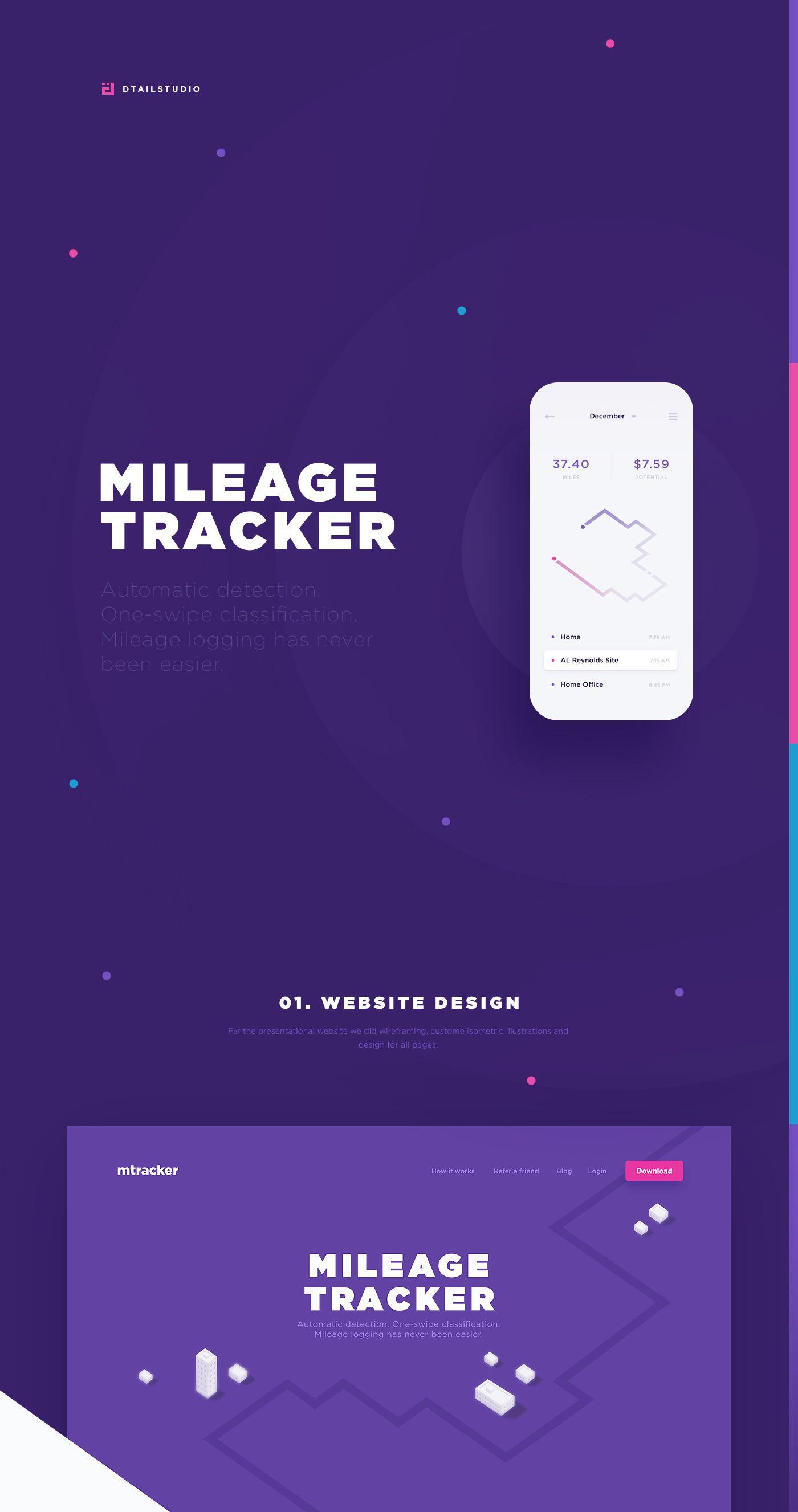 Mileage Tracker  Website  Application Design On Behance  WebUi