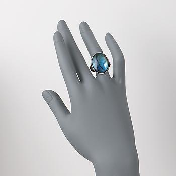 Oval Labradorite Ring in Sterling Silver