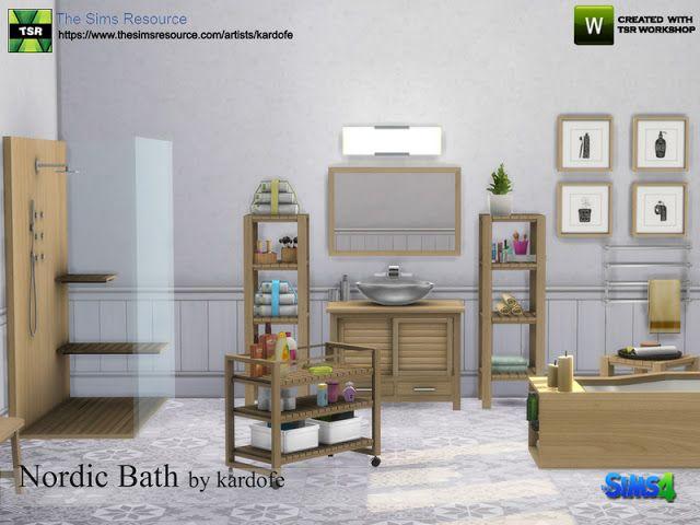 Sims 4 CC\'s - The Best: kardofe_Nordic Bath   Sims 4 CC\'s - The Best