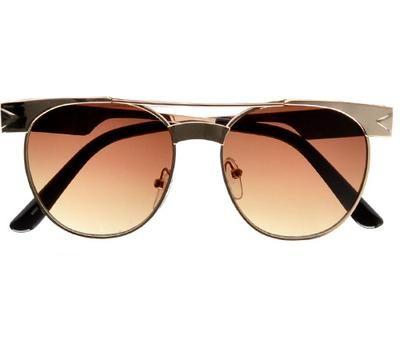 8c0dd19e872 Retro 51mm Metal Flat Top Bridge Hipster Sunglasses