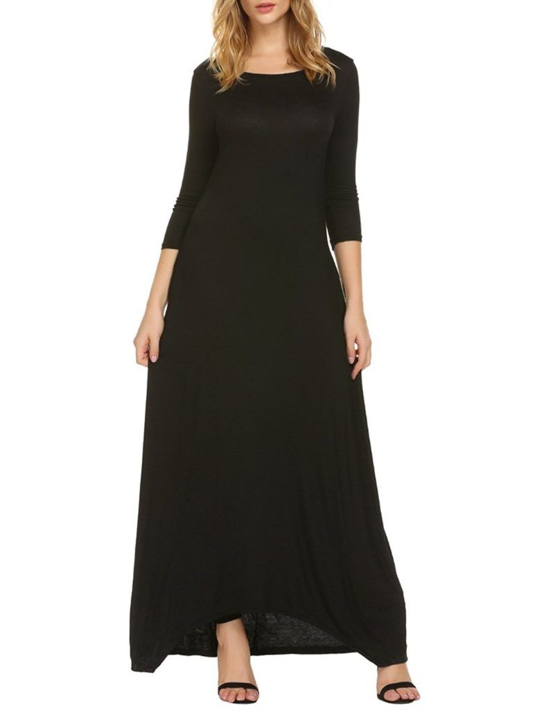 Naggoo Women S Casual Loose Plain 3 4 Sleeve Long Maxi Dresses With Pockets Shop2online Best Woman S Fashion Products Designed To Provide Maxi Dress Long Dress Casual Long Maxi Dress [ 1024 x 788 Pixel ]
