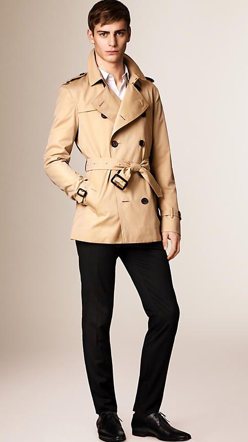 b88202dc33 The Kensington – Short Trench Coat in Honey - Men | Fashion | Short ...