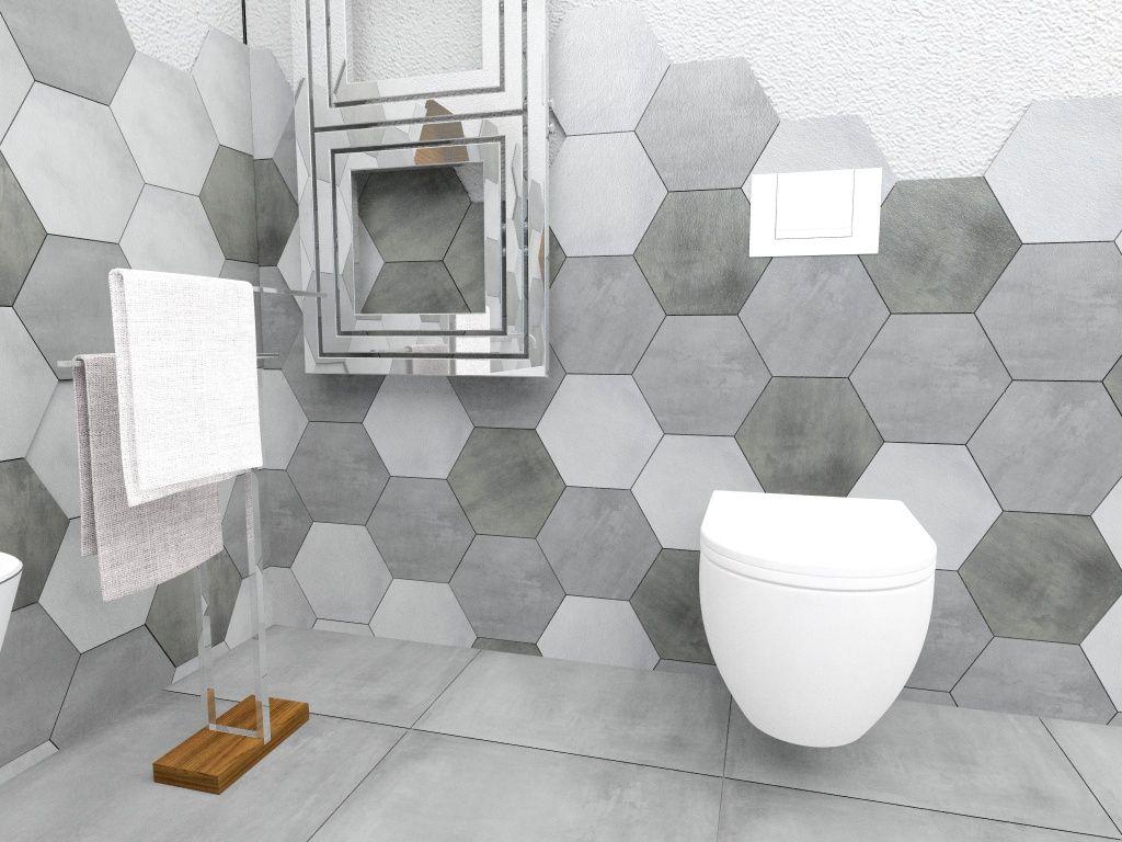 Znalezione Obrazy Dla Zapytania Plytki Heksagony Tile Floor Flooring Toilet