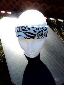 Boho Headband/Fashion Headband/Workout Headband/Animal Print Headband/Athletic Headband from NicoleRay