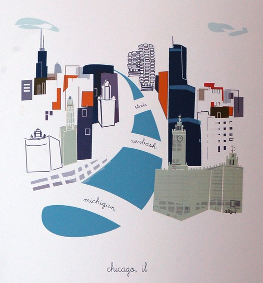 Chicago Print, City Prints, Chicago Art
