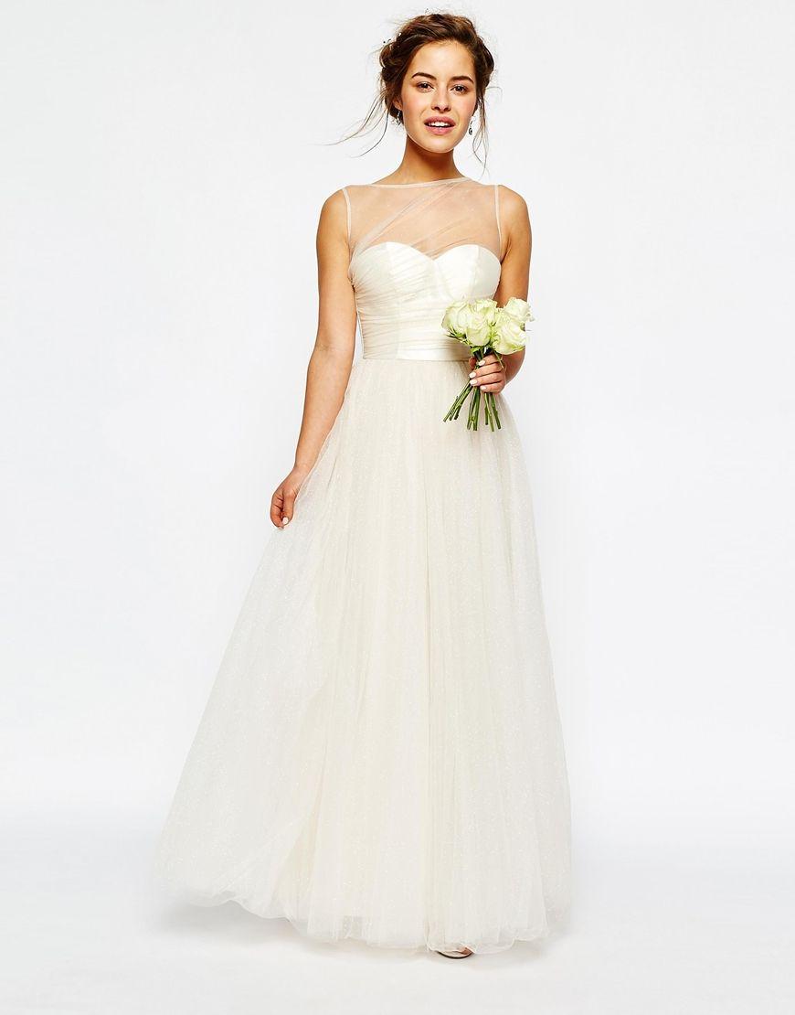 Asos Image 4 Of Chi London Pee Bridal Pleated Bust Maxi Dress