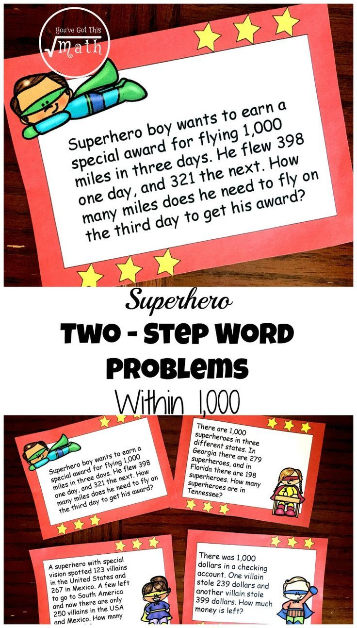 - 12 FREE Superhero Two-Step Word Problems Worksheets Or Task Cards