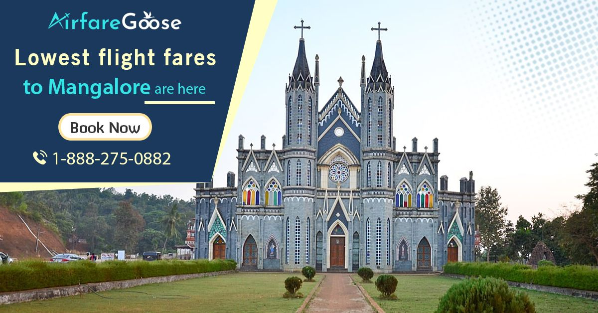 Get Lowest Flight Fares to the Gateway of South India, #Mangalore.  Book your next flight to Mangalore at cheapest airfare with #Airfaregoose and save big! Contact us today!  For more information, call us at -1-888-275-0882 (Toll-Free).  #travelToMangalore #bestdealstoindia #usatoindiaflights #discountedflighttickets #cheapflightbooking #visitmangalore #triptomangalore #TouristDestinations #Vacations #Holiday #Travel