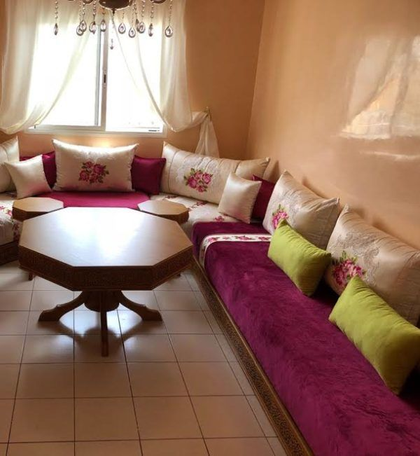 Salon marocain moderne – salon marocain – séjour marocain – Maawak ...
