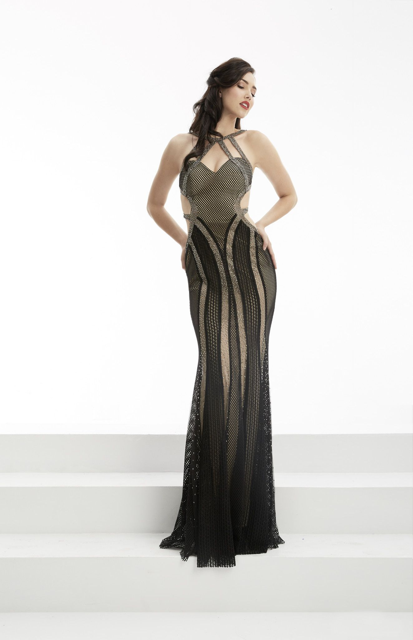 Jasz couture black open back prom dress products pinterest