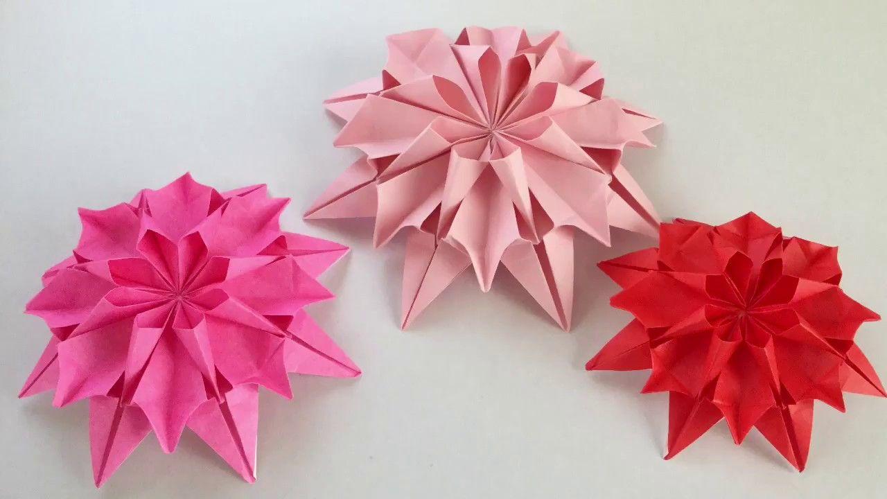1 origami dahlia youtube flowers youtube 1 origami dahlia youtube mightylinksfo
