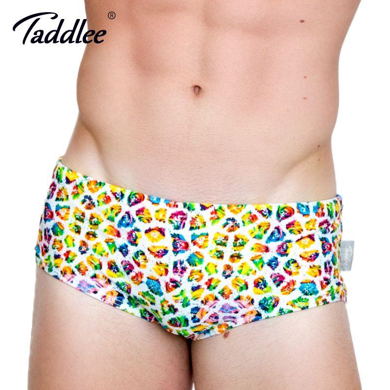 f41ff27bf4b Taddlee Brand Sexy Men's Swimwear Basic Swim Boxer Briefs 3D Printed Bikini  Men SwimSwimSuits Gay Low Waist Surf Board Trunks Gay summer dresses ...