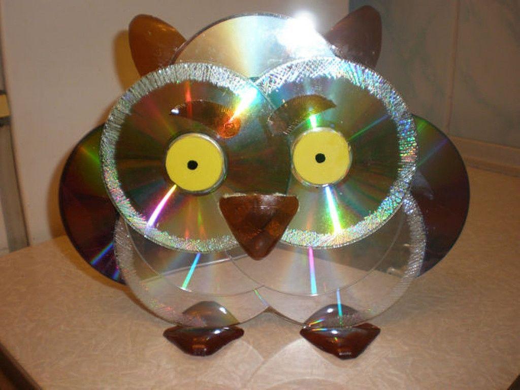 Поделка из диска