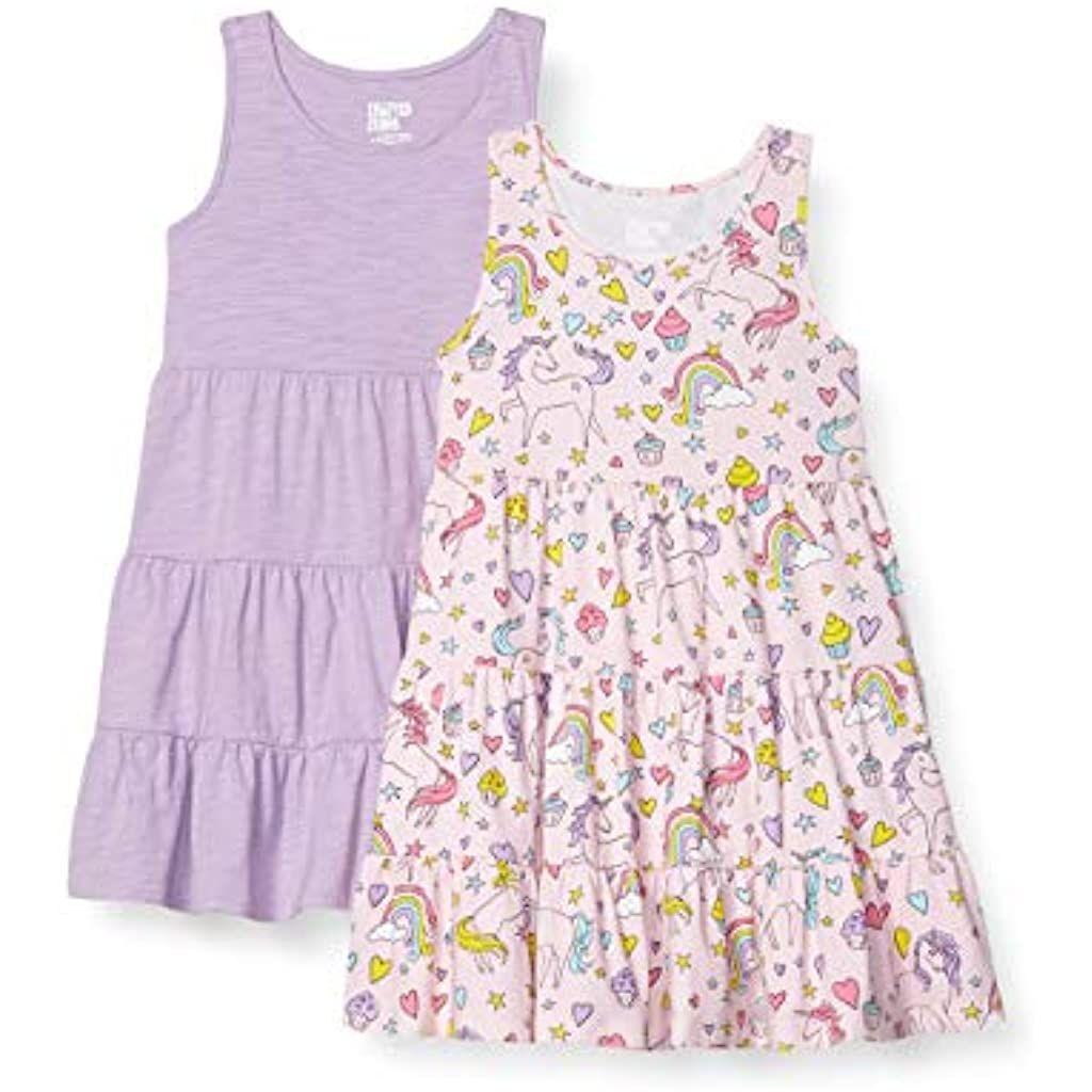 Amazon Brand Spotted Zebra Girl S Knit Sleeveless Tiered Dresses Dresses Knitting Girls A Line Prom Dresses [ 1024 x 1024 Pixel ]