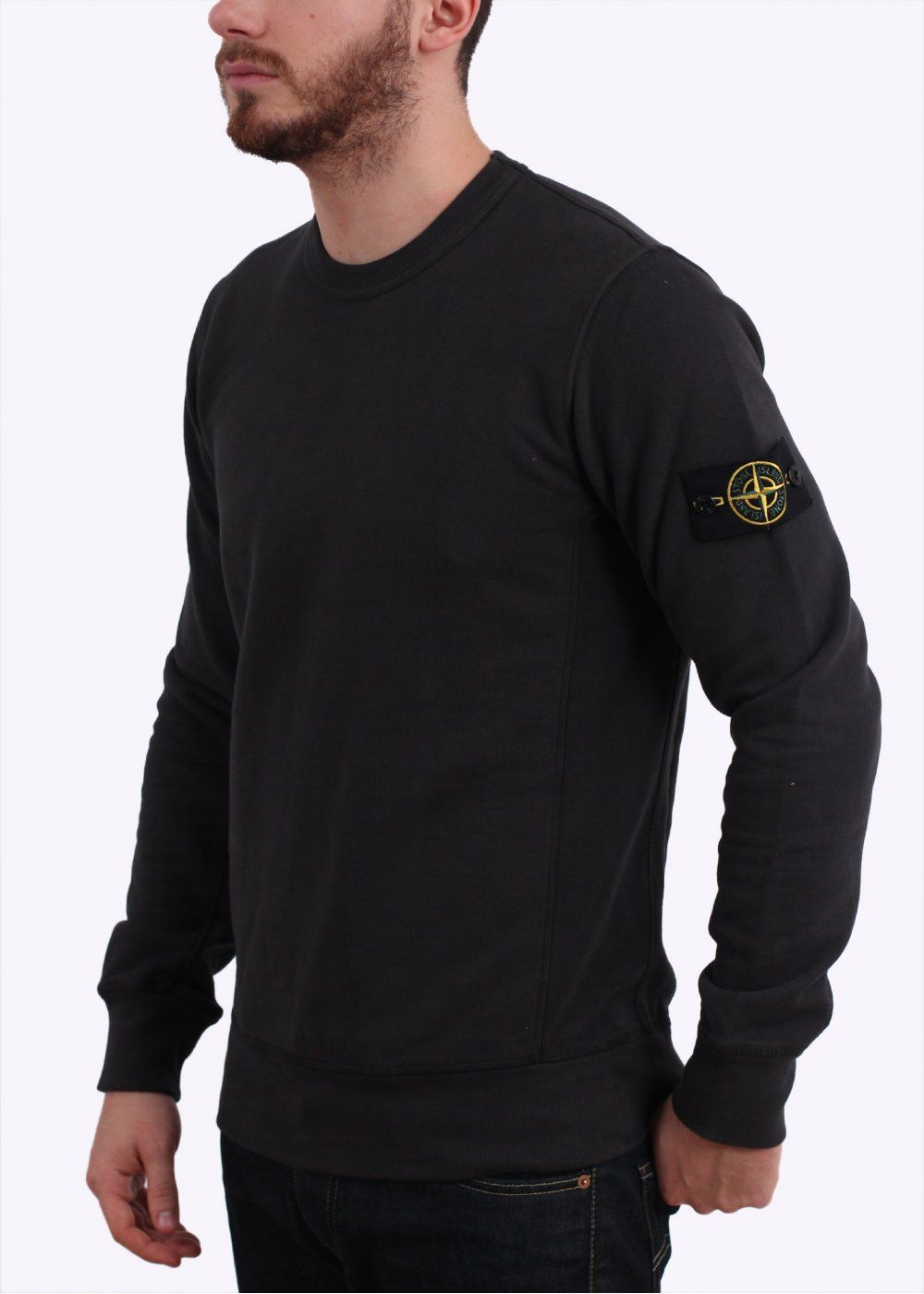 Crew Sweater Dark Grey Stone Island Clothing Stone Island Sweatshirt Stone Island Jacket