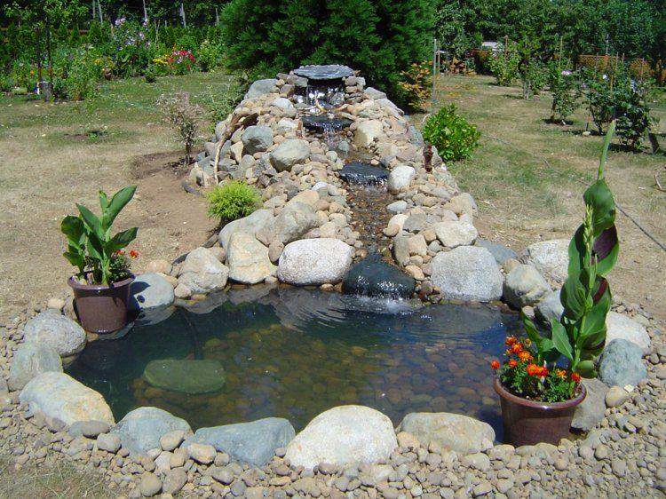 Gartenideen bilder  inspirierende Gartenteich Bilder Gartenideen Topfpflanzen ...