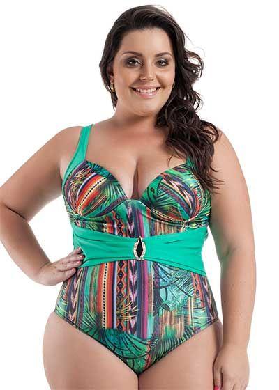 a9ee19bc1bdc Maios Plus Size da Moda Praia Feminina para Gordinhas … | moda praia ...