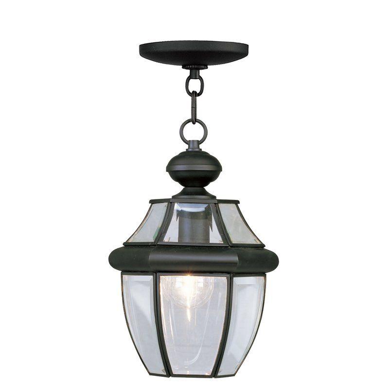 Three Posts Gustavson 1 Light Outdoor Hanging Lantern Reviews Wayfair