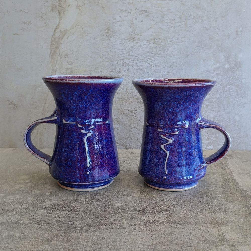 Australian Studio Pottery Coffee mugs by Peter Dobinson