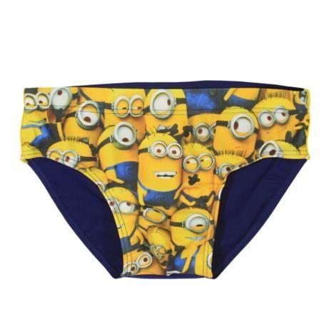 Many Minions Navy Swimming Trunks