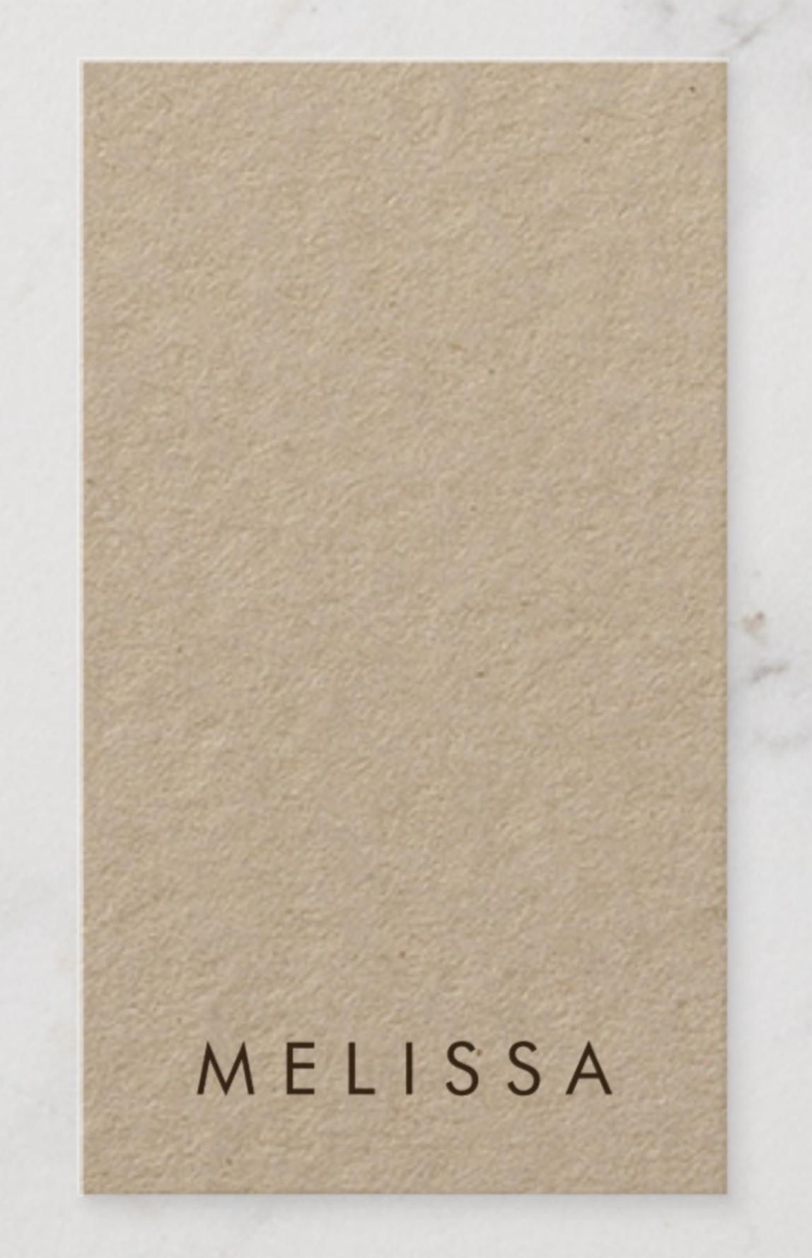 Modern Minimalist Vertical Kraft Paper Business Card Zazzle Com Vertical Business Cards Kraft Paper Brown Kraft Paper