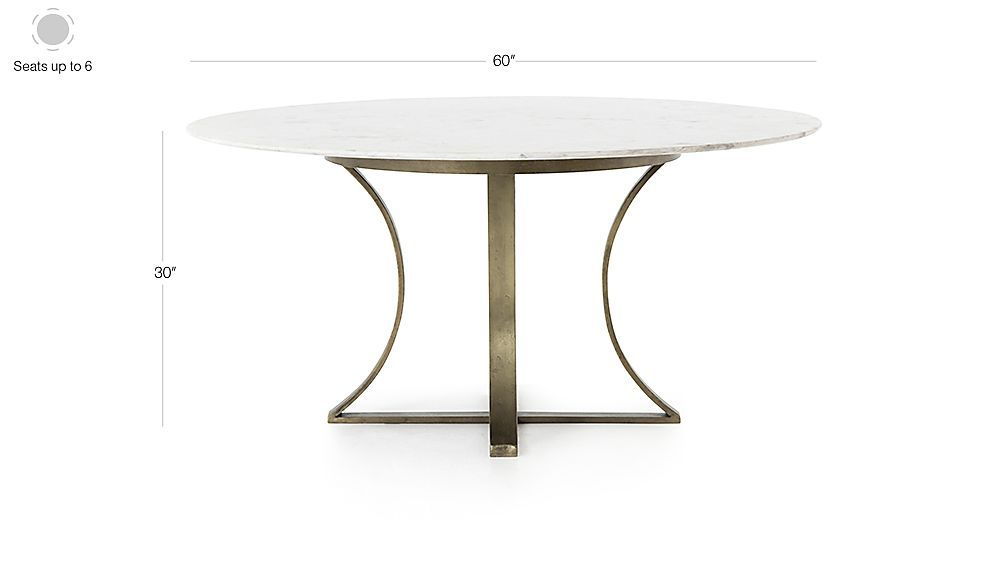 Damen 60 Brown Wood Top Dining Table Crate And Barrel Marble Top Dining Table Marble Tables Design Marble
