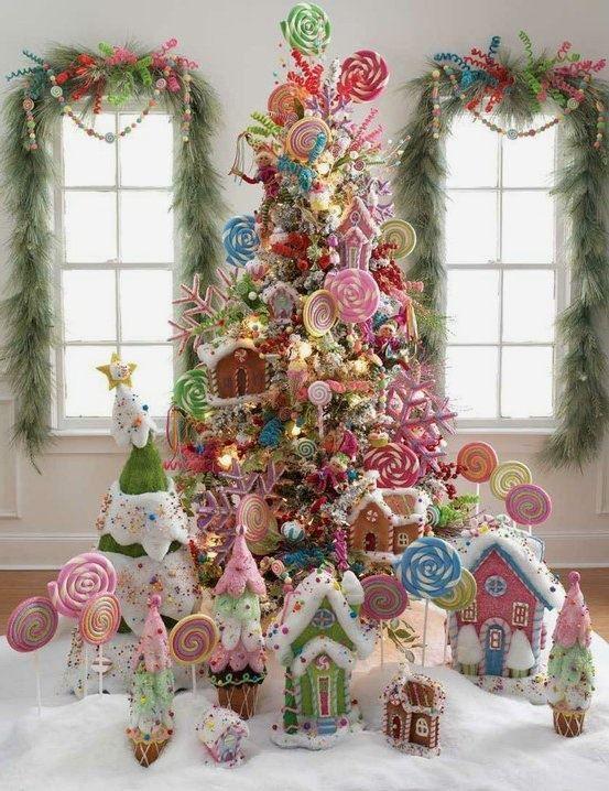Hermosa propuesta arbol de navidad decorado con tortas - Arbol de navidad decorado ...