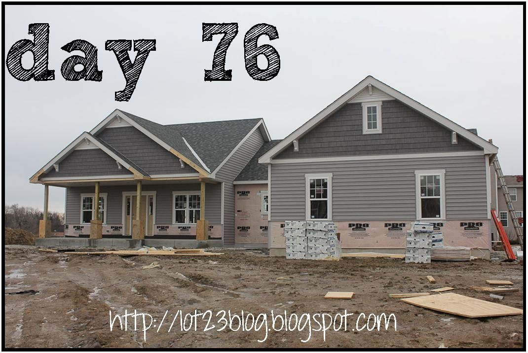 day 76 new construction house blog gray house or grey house white trim craftsman detail. Black Bedroom Furniture Sets. Home Design Ideas