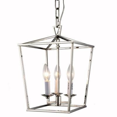 Denmark Collection 1422 Pendant Lamp With Polished Nickel Finish